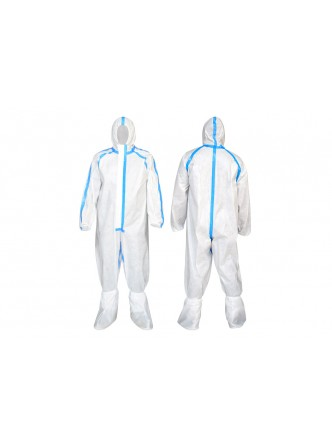 Biohazard Disposable Coverall  (With heat seam seal tape)